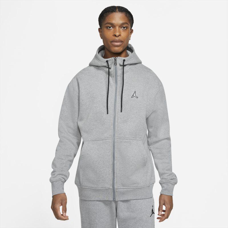 Jordan Essentials Sudadera con capucha de tejido Fleece con cremallera completa - Hombre - Gris