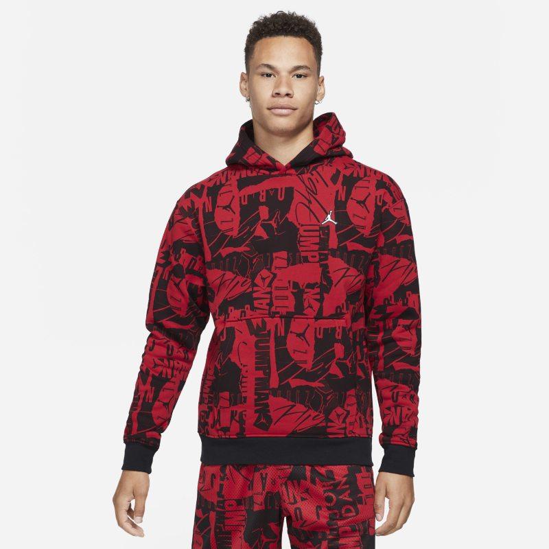 Jordan Essentials Sudadera con capucha de tejido Fleece con estampado - Hombre - Rojo