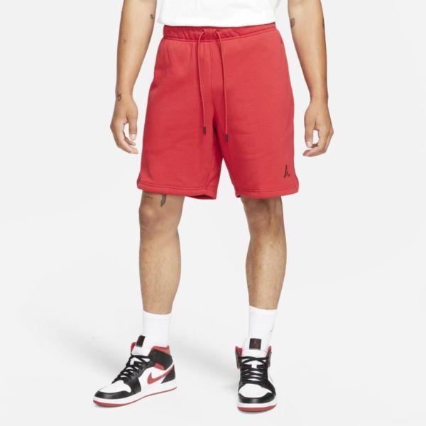Jordan Essentials Pantalón corto de tejido Fleece - Hombre - Rojo