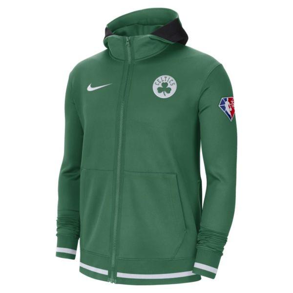 Boston Celtics Nike Showtime Sudadera con capucha y cremallera completa Nike Dri-FIT NBA - Hombre - Verde