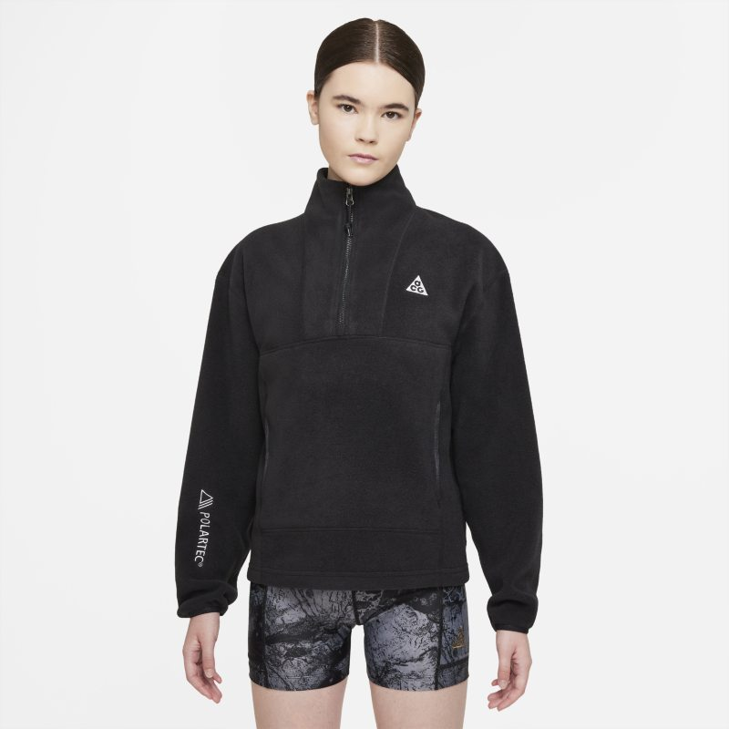 "Nike ACG Therma-FIT ""Wolf Tree"" Camiseta con media cremallera - Mujer - Negro"
