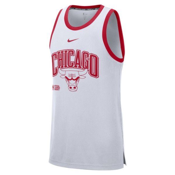 Chicago Bulls Courtside Camiseta de tirantes Nike DNA NBA - Hombre - Blanco