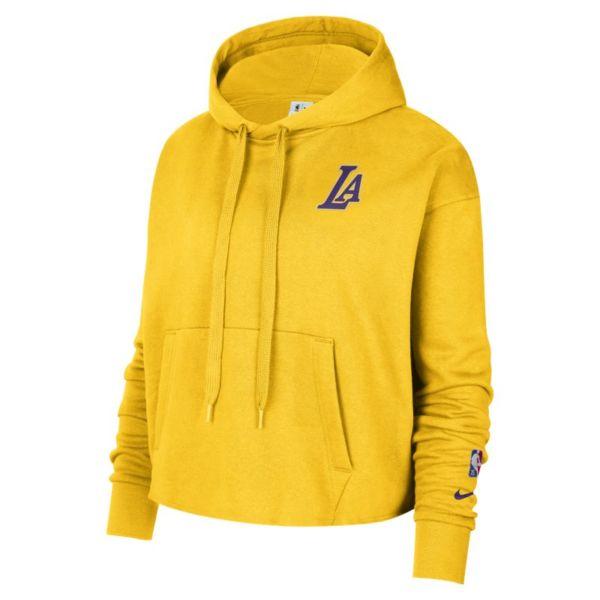 Los Angeles Lakers Sudadera con capucha Nike de la NBA de tejido Fleece - Mujer - Amarillo