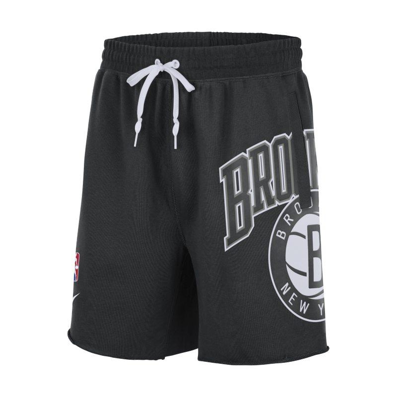Brooklyn Nets Courtside Pantalón corto de tejido Fleece Nike de la NBA - Hombre - Negro