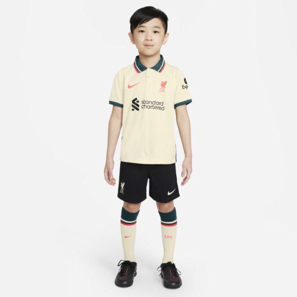 Segunda equipación Liverpool FC 2021/22 Equipación de fútbol - Niño/a pequeño/a - Marrón