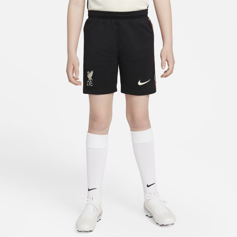 Segunda equipación Stadium Liverpool FC 2021/22 Pantalón corto de fútbol Nike Dri-FIT - Niño/a - Negro