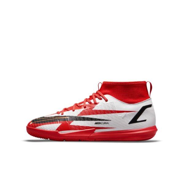 Nike Jr. Mercurial Superfly 8 Academy CR7 IC Botas de fútbol sala - Niño/a y niño/a pequeño/a - Rojo