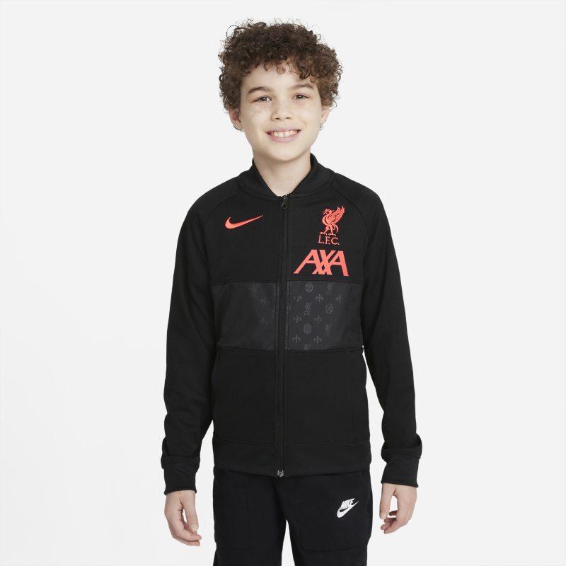 Liverpool FC Chaqueta deportiva de fútbol con cremallera completa - Niño/a - Negro