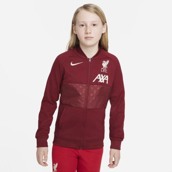 Liverpool FC Chaqueta deportiva de fútbol con cremallera completa - Niño/a - Rojo