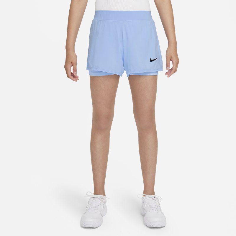 NikeCourt Dri-FIT Victory Pantalón corto de tenis - Niña - Azul