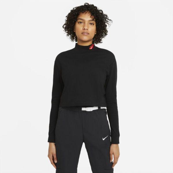 Nike Sportswear Camiseta de cuello alto y manga larga - Mujer - Negro