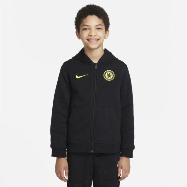 Chelsea FC Sudadera con capucha y cremallera completa de tejido Fleece - Niño/a - Negro
