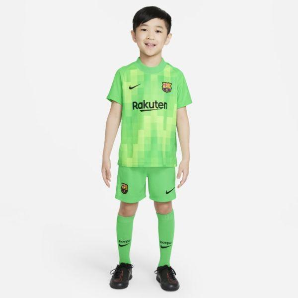 Equipación de portero FC Barcelona 2021/22 Equipación de fútbol - Niño/a pequeño/a - Verde
