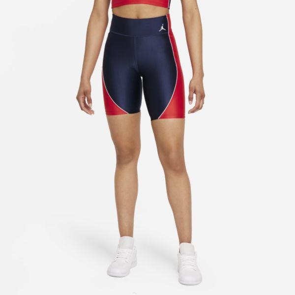 Jordan Essentials Pantalón corto de ciclismo de talle medio - Mujer - Azul