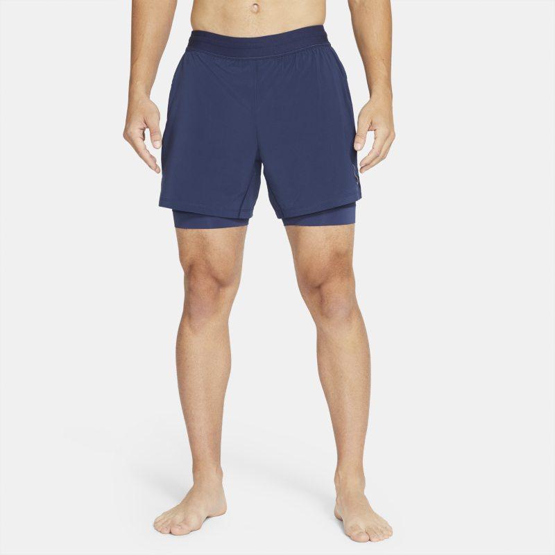 Nike Pantalón corto 2 en 1 - Hombre - Azul