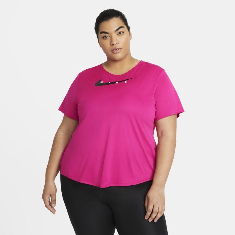 Nike Swoosh Run Camiseta de running - Mujer - Rosa