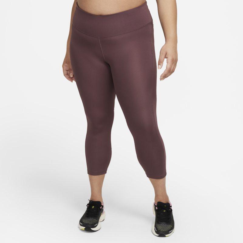 Nike Fast Leggings cortos de running de talle medio - Mujer - Rojo