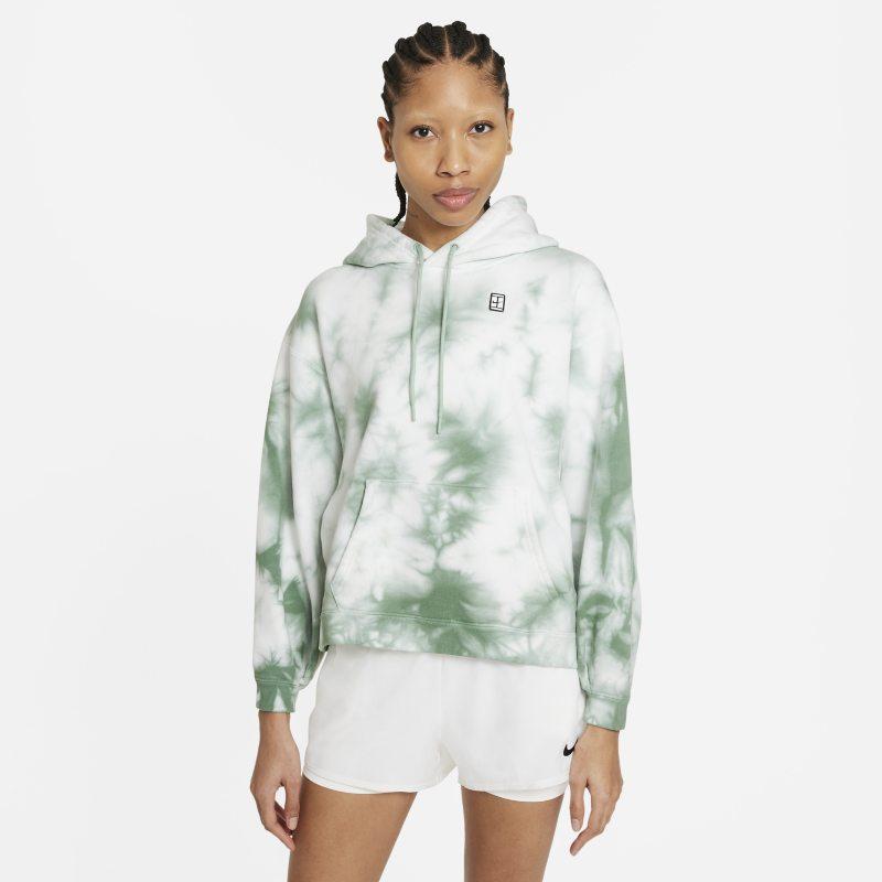 NikeCourt Sudadera con capucha de tenis con estampado tie-dye - Mujer - Blanco