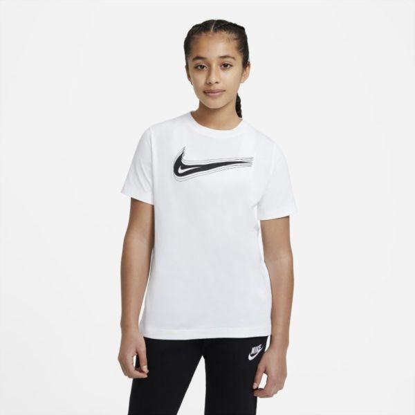Nike Sportswear Camiseta con Swoosh - Niño/a - Blanco