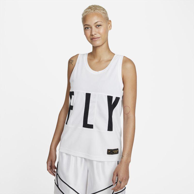 Nike Dri-FIT Swoosh Fly Camiseta de baloncesto - Mujer - Blanco