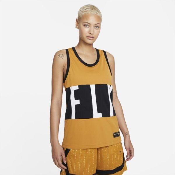 Nike Dri-FIT Swoosh Fly Camiseta de baloncesto - Mujer - Marrón