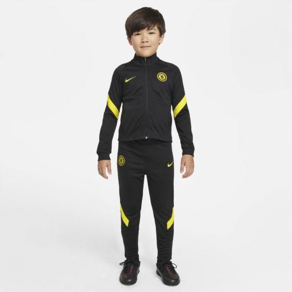 Chelsea FC Strike Chándal de fútbol Nike Dri-FIT - Niño/a pequeño/a - Negro