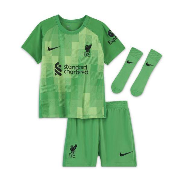 Equipación de portero Liverpool FC 2021/22 Equipación de fútbol - Bebé e infantil - Verde