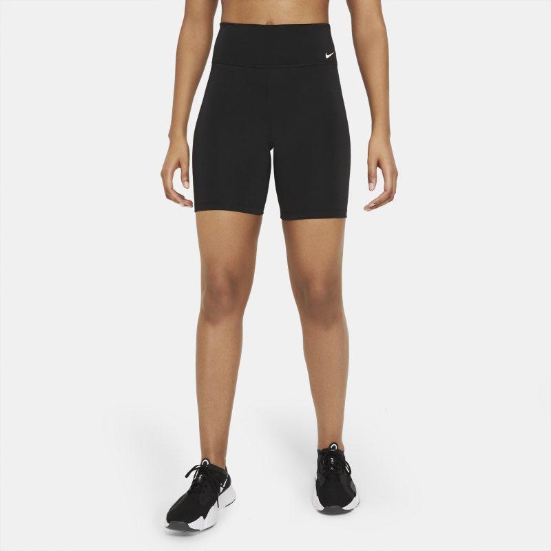 Nike One Mallas cortas de ciclismo de talle medio de 18cm - Mujer - Negro