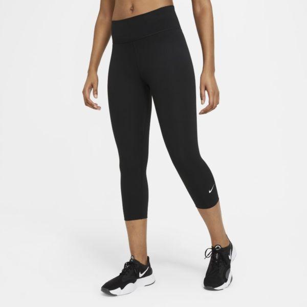 Nike One Leggings piratas de talle medio - Mujer - Negro