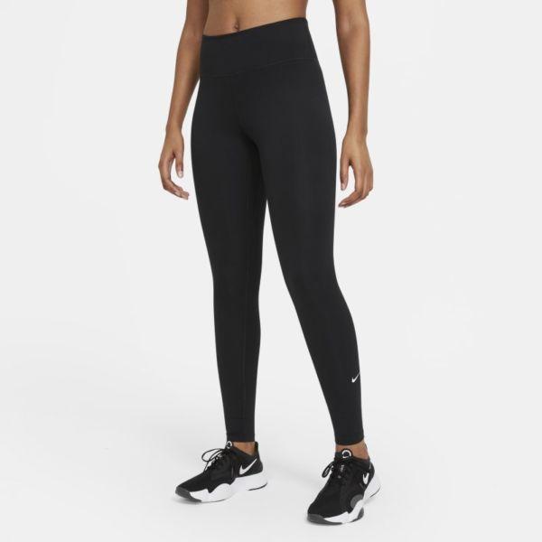 Nike Dri-FIT One Leggings de talle medio - Mujer - Negro