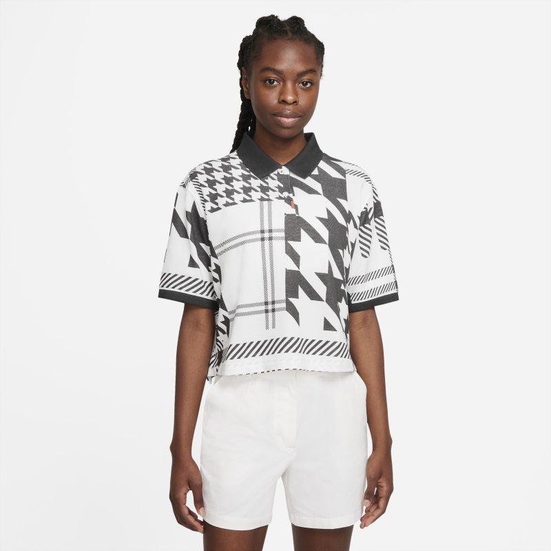 El polo Nike Polo con estampado a cuadros - Mujer - Blanco