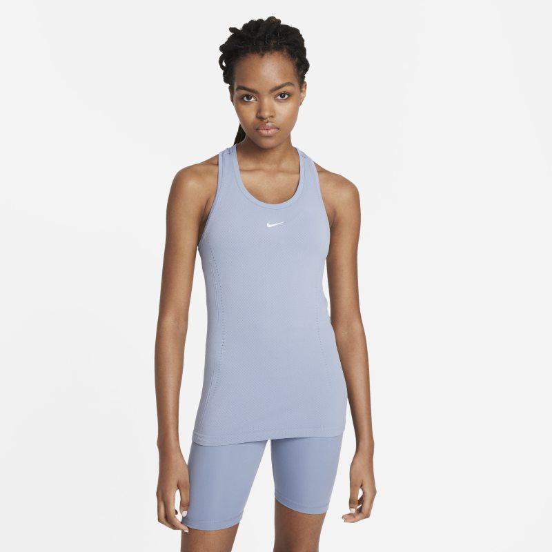 Nike Dri-FIT ADV Aura Camiseta de tirantes de ajuste entallado - Mujer - Gris