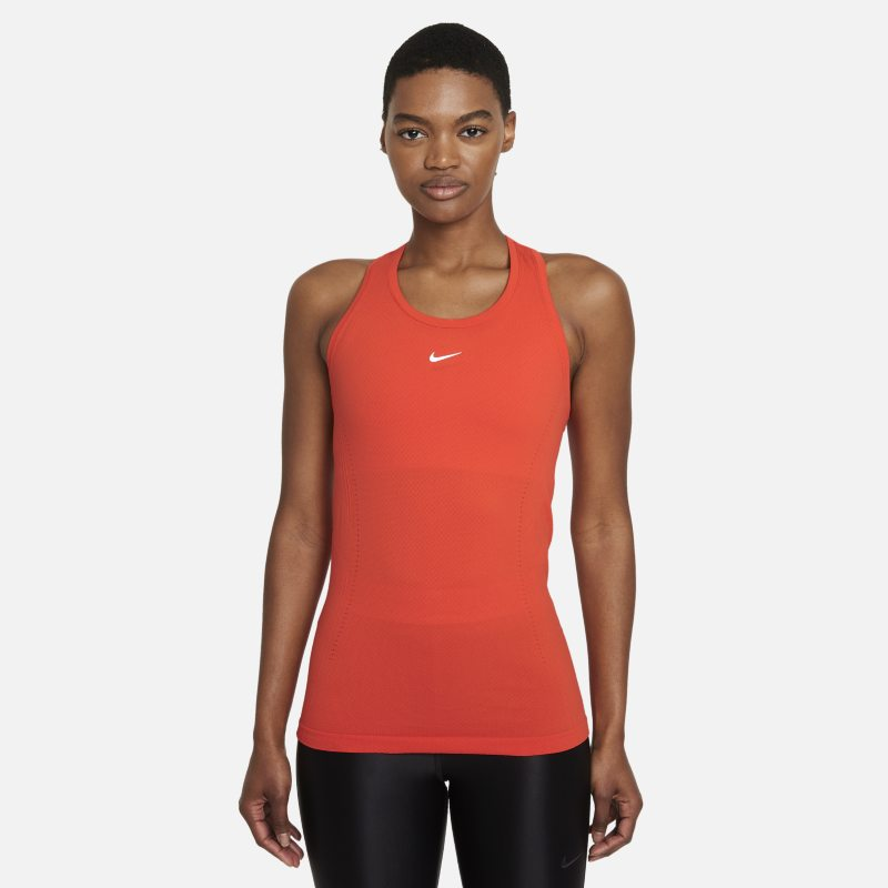 Nike Dri-FIT ADV Aura Camiseta de tirantes de ajuste entallado - Mujer - Rojo