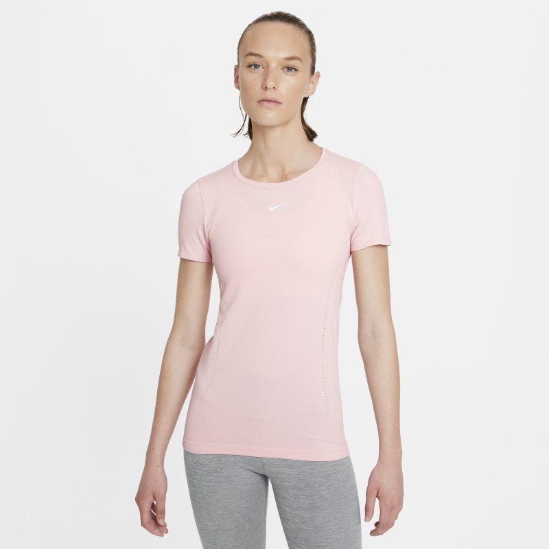 Nike Dri-FIT ADV Aura Camiseta de manga corta con ajuste entallado - Mujer - Rosa