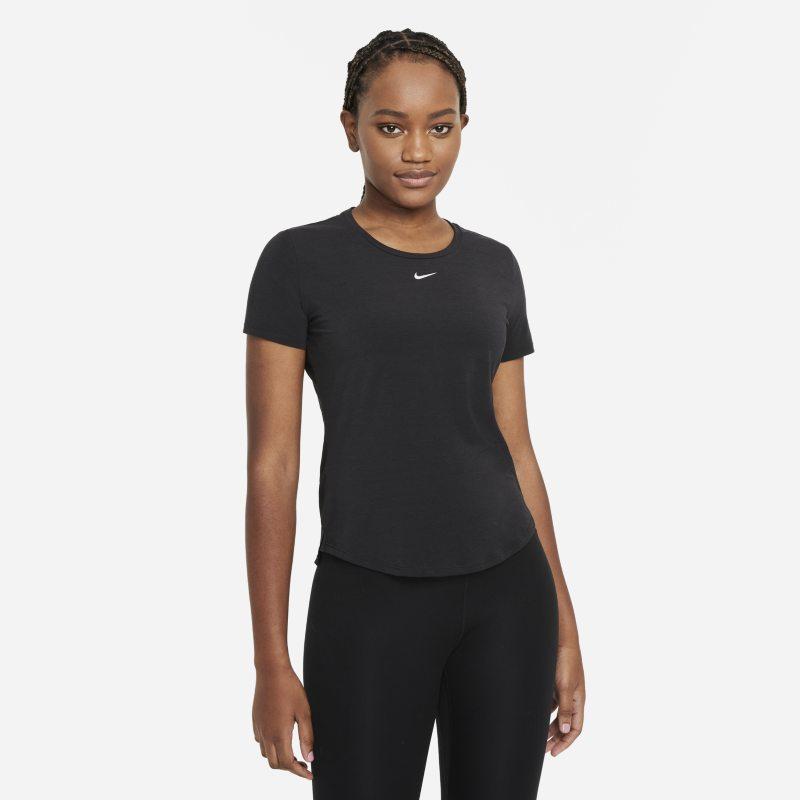 Nike Dri-FIT One Luxe Camiseta de manga corta de ajuste estándar - Mujer - Negro