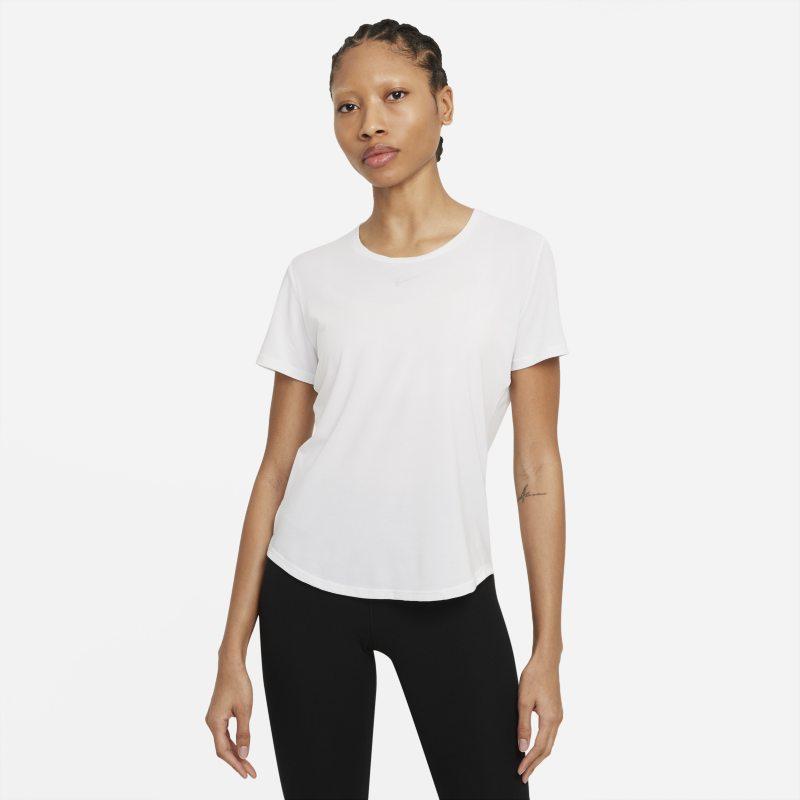 Nike Dri-FIT One Luxe Camiseta de manga corta de ajuste estándar - Mujer - Blanco