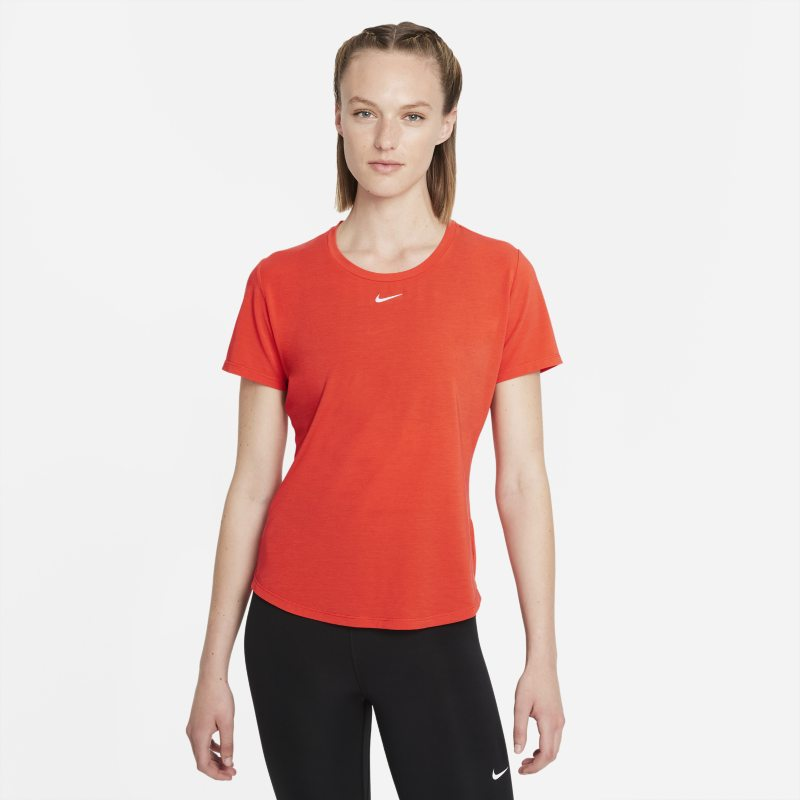 Nike Dri-FIT One Luxe Camiseta de manga corta de ajuste estándar - Mujer - Rojo