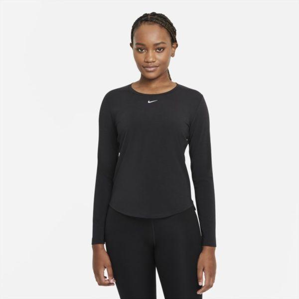 Nike Dri-FIT One Luxe Camiseta de manga larga de ajuste estándar - Mujer - Negro