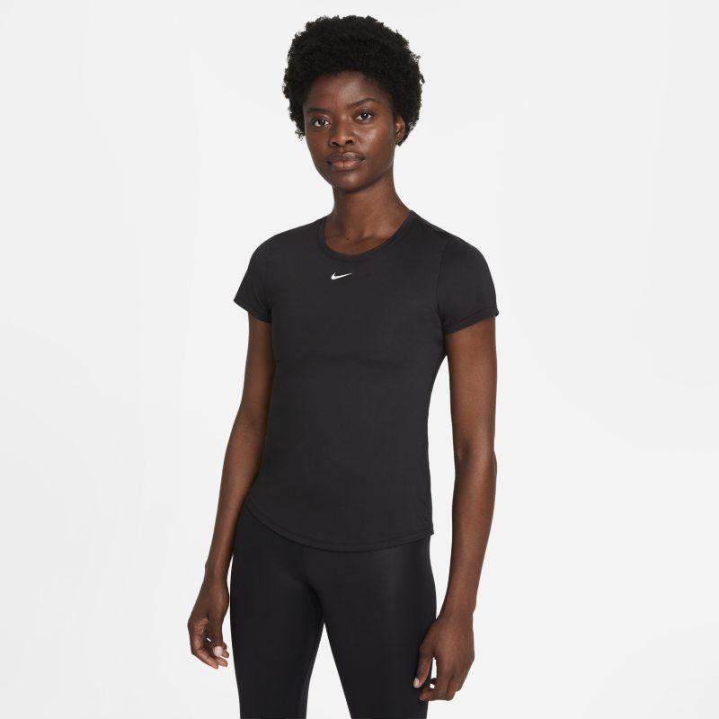 Nike Dri-FIT One Camiseta de manga corta con ajuste entallado - Mujer - Negro