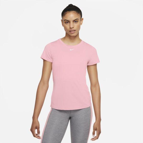 Nike Dri-FIT One Camiseta de manga corta con ajuste entallado - Mujer - Rosa