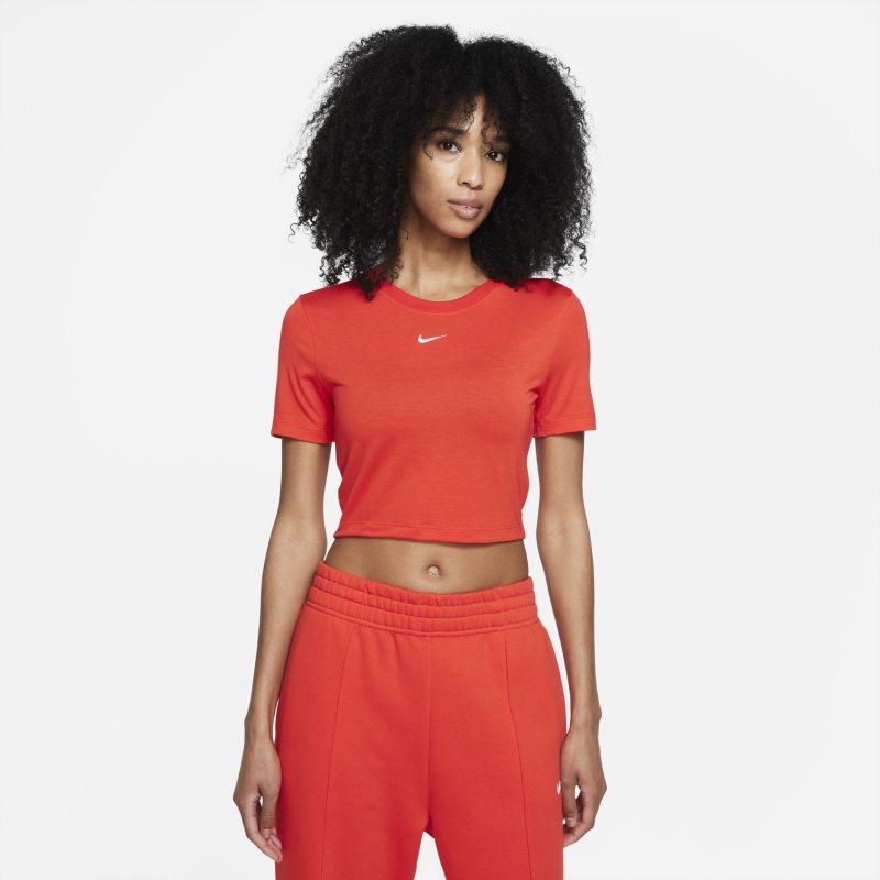 Nike Sportswear Essential Camiseta corta - Mujer - Rojo