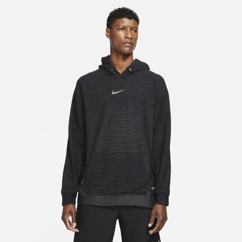 Nike Pro Therma-FIT ADV Sudadera con capucha de tejido Fleece - Hombre - Negro