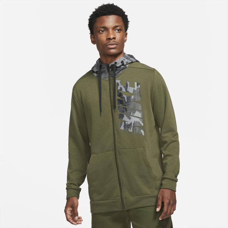 Nike Dri-FIT Sudadera con capucha de entrenamiento de camuflaje con cremallera completa - Hombre - Verde