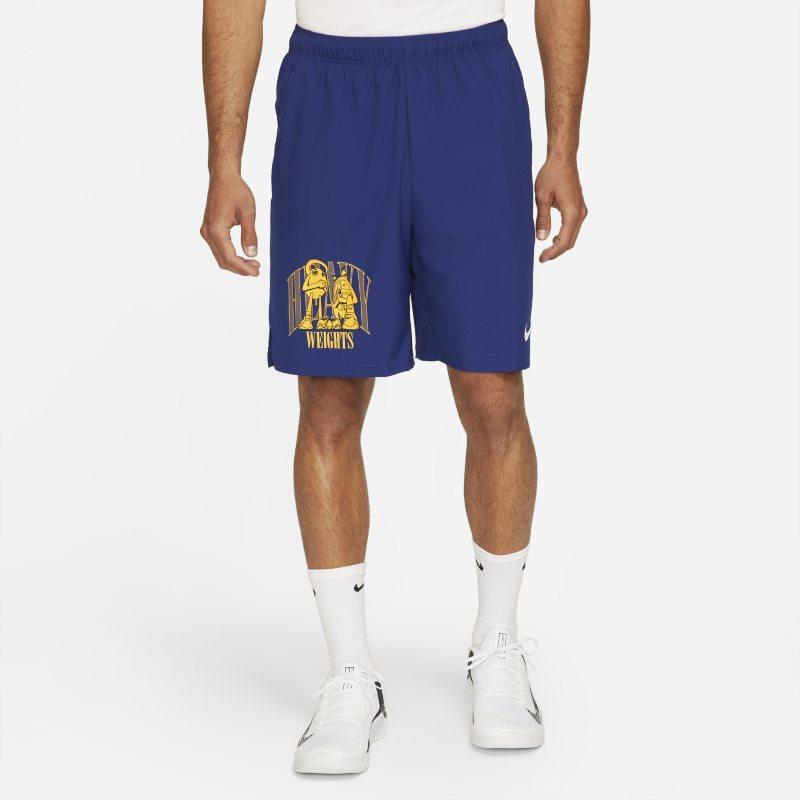 Nike Dri-FIT Pantalón corto de entrenamiento de tejido Woven con estampado - Hombre - Azul