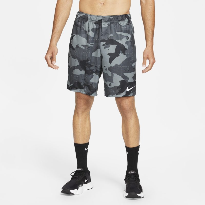 Nike Dri-FIT Pantalón corto de entrenamiento de camuflaje - Hombre - Gris