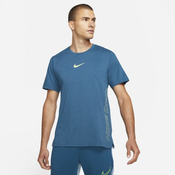 Nike Pro Dri-FIT Burnout Camiseta de manga corta - Hombre - Azul