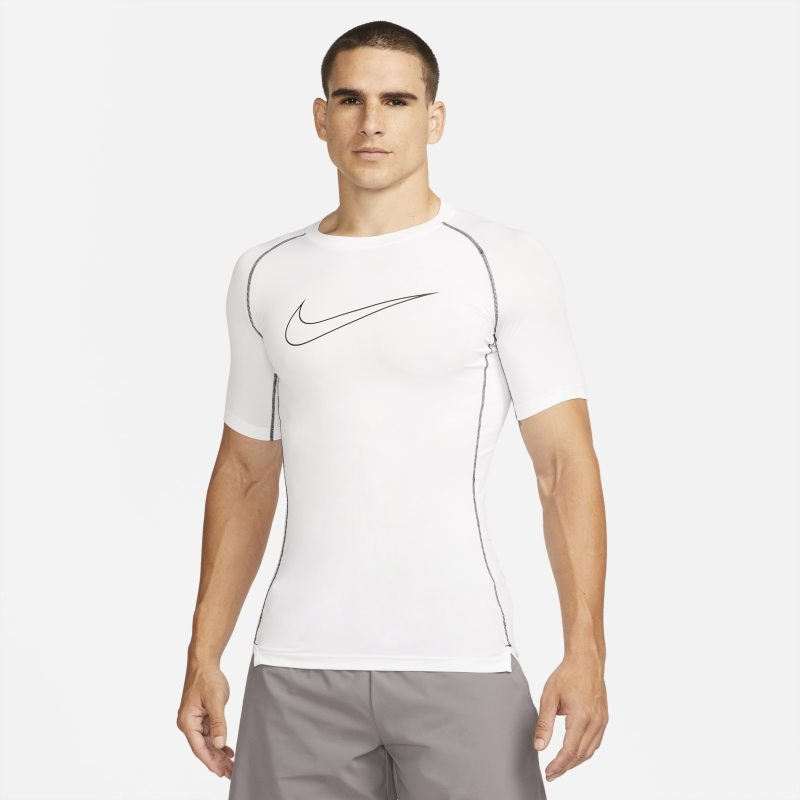 Nike Pro Dri-FIT Camiseta de manga corta y ajuste ceñido - Hombre - Blanco