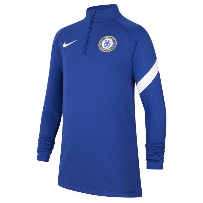 Chelsea FC Academy Pro Camiseta de fútbol de entrenamiento Nike Dri-FIT - Niño/a - Azul