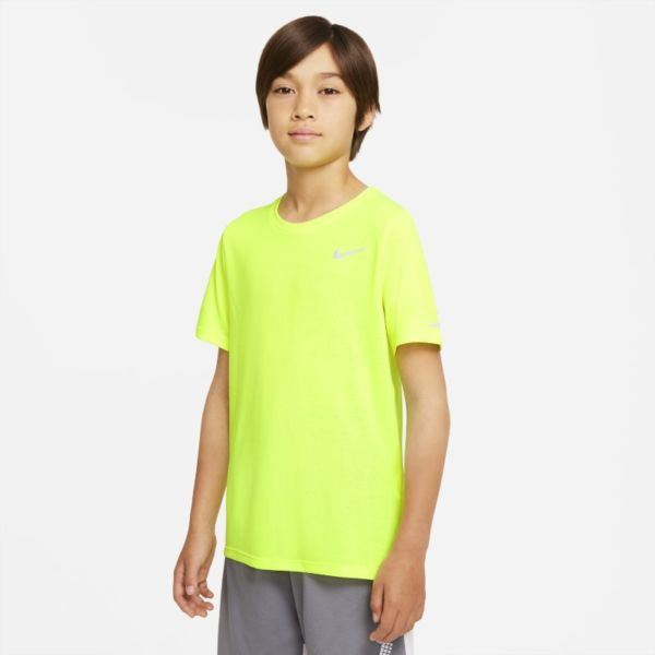 Nike Dri-FIT Miler Camiseta de entrenamiento - Niño - Amarillo