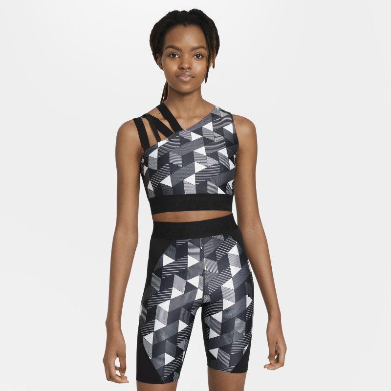 Serena Williams Design Crew Camiseta de tenis con estampado - Mujer - Negro